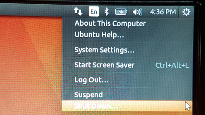 Ubuntu Linux shut down herunterfahren beenden neustart