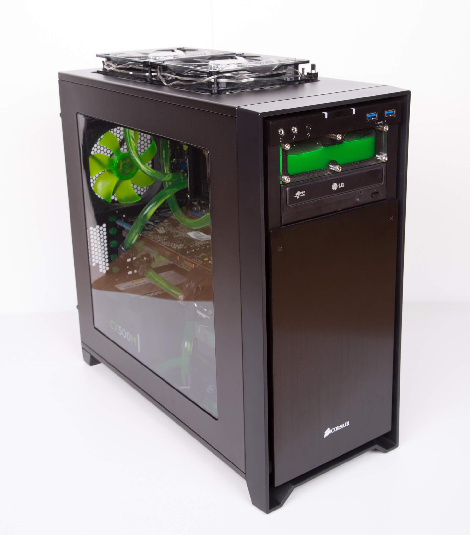 GreenBeast Corsair PC Casemod Wasserkühlung