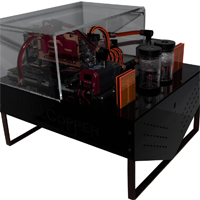 dualcopper casemod wasserkuehlung pc computer case casecon modding aqua water cooling cooled