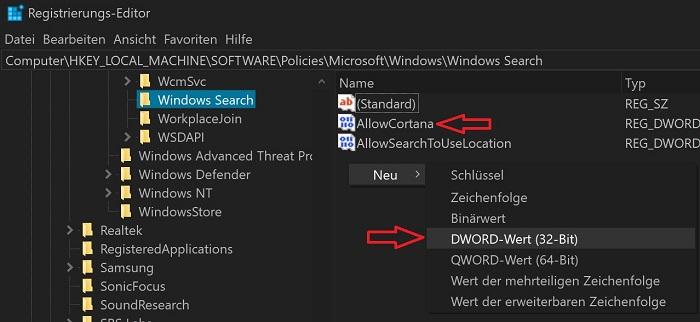 windows 10 cortana deaktivieren entfernen creators anniversary update home pro