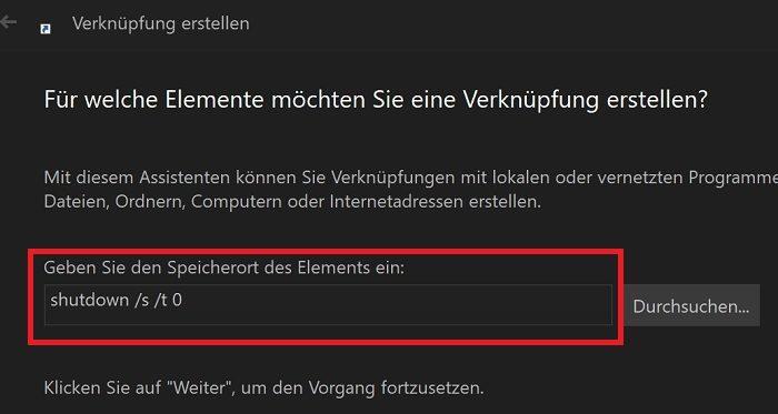 windows 10 shutdown pc computer herunterfahren klick timer neustart
