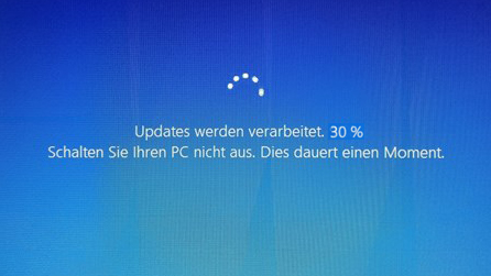 windows 10 update haengt fehler bug beheben