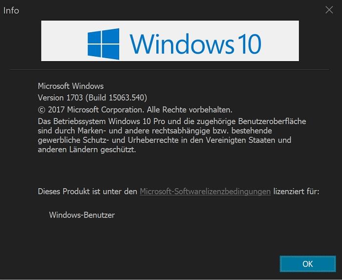 windows 10 versionsnummer installation version update anleitung anzeigen finden