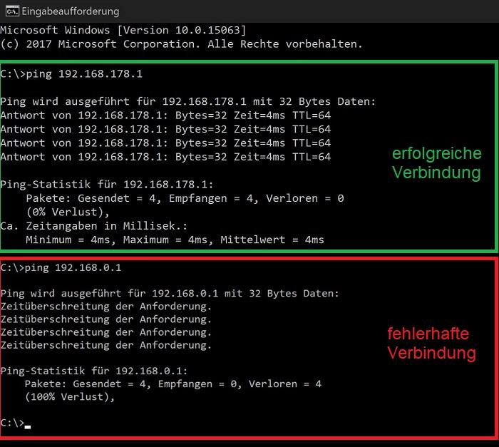 windows 10 netzwerk verbindung funktioniert nicht ping test erfolgreich