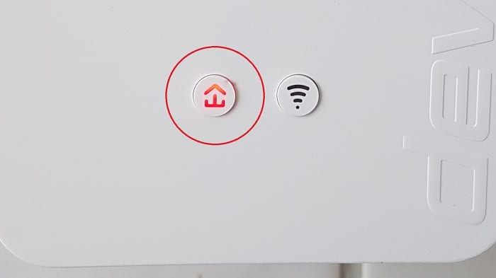 devolo dlan security id netzwerk pairing verbinden verbindung rote led reset