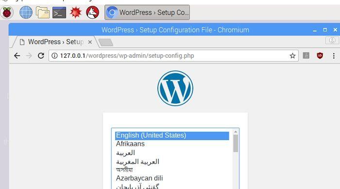 raspberry pi webserver installieren einrichten wordpress mysql mariadb raspbian