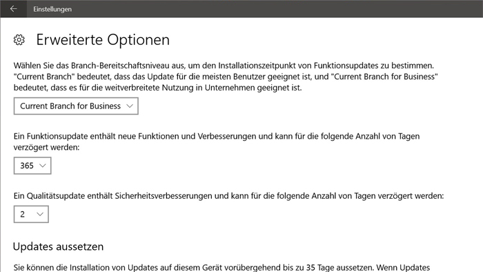 sicherheit updates neue version installation update-assistent