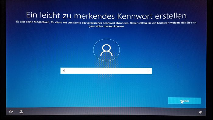 windows 10 installation datenschutz version 1709 Benutzerkonto