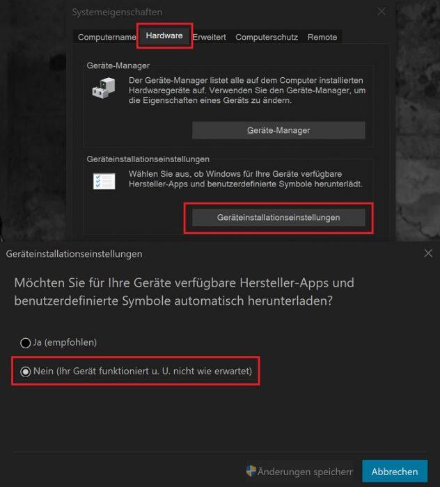 windows 10 treiber update vom windows-update verhindern deaktivieren