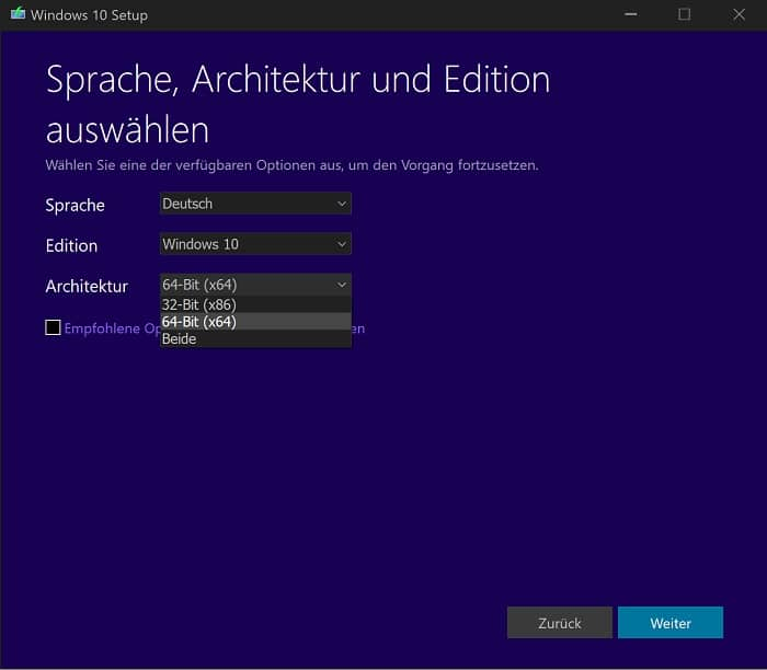 windows 10 usb-boot-stick installationsmedium installation media creation tool
