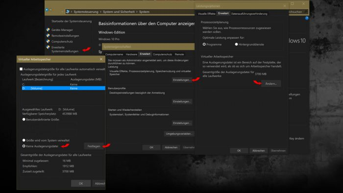windows 10 ssd auslagerungsdatei nvme deaktivieren
