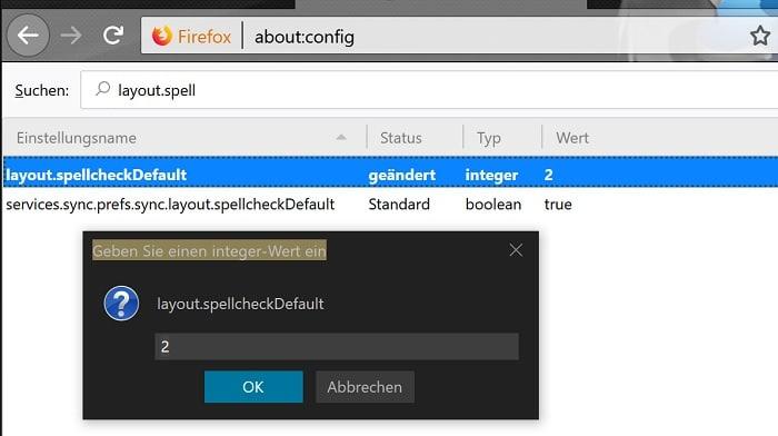 firefox rechtschreibprüfung funktioniert nicht reparieren aktivieren einstellen
