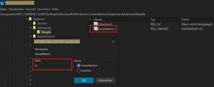 windows 10 kontakte taskleiste deaktivieren ausblenden