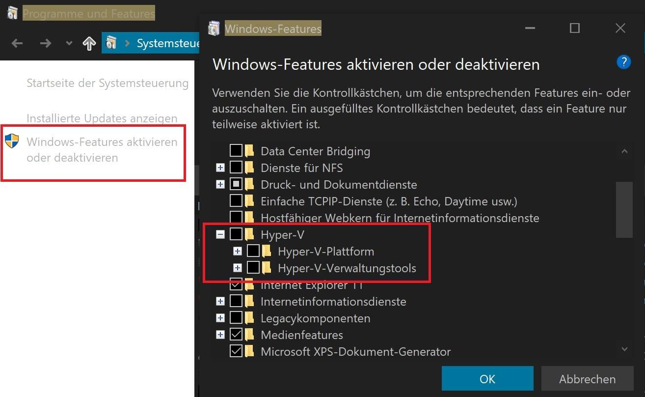 windows 10 virtuelle maschine aktivieren nutzen vm hyper-v