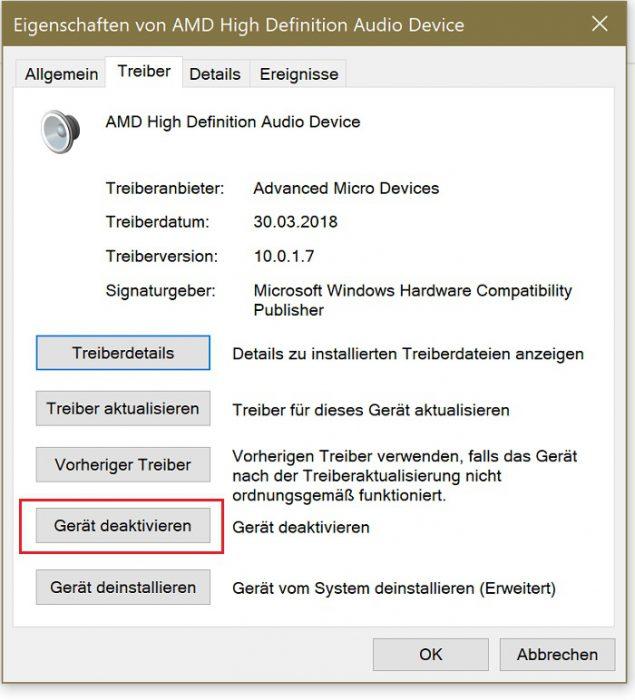 windows 10 audioquellen monitor headset boxen lautsprecher deaktivieren neustart automatisch aktiv