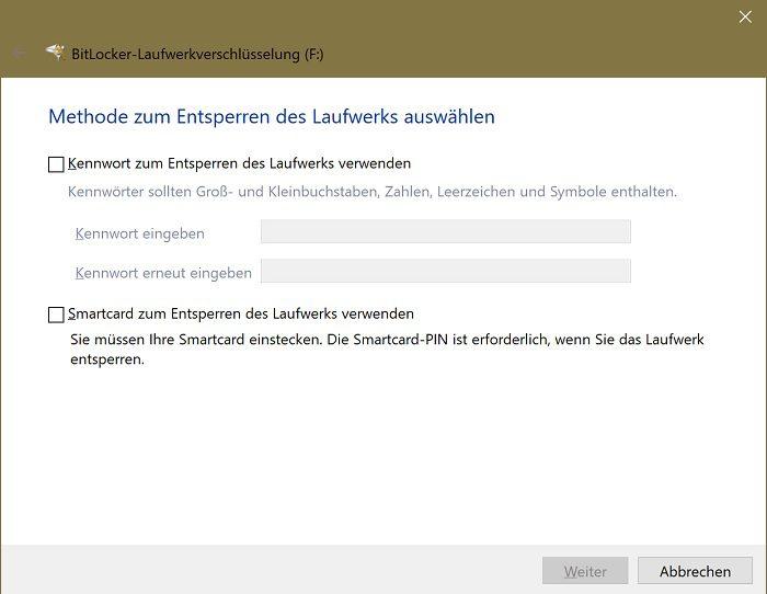 windows 10 verschlüsselten usb-stick erstellen bitlocker veracrypt sicherheit verschlüsselung