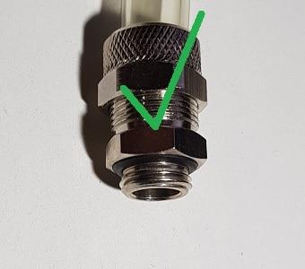 wasserkühlung anschluss fitting individuell wakü water cool dichtung schlauch rohr acryl petg