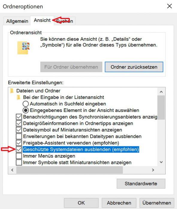 windows 10 desktop.ini datei ausblenden desktop entfernen dauerhaft