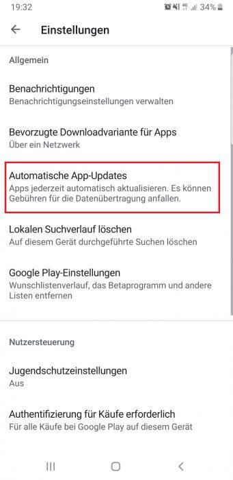 android updates nur mobilen internet verbindung wlan
