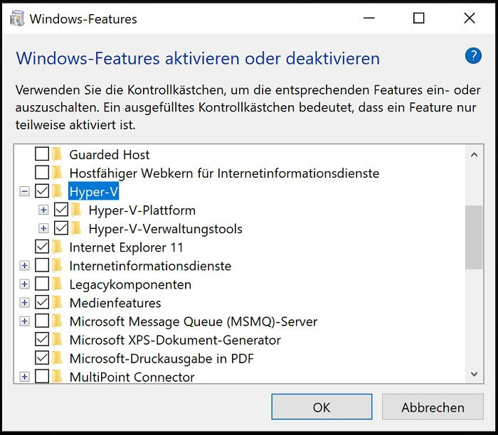 windows 10 sandbox vm virtual machine 1903 aktivieren pro home version