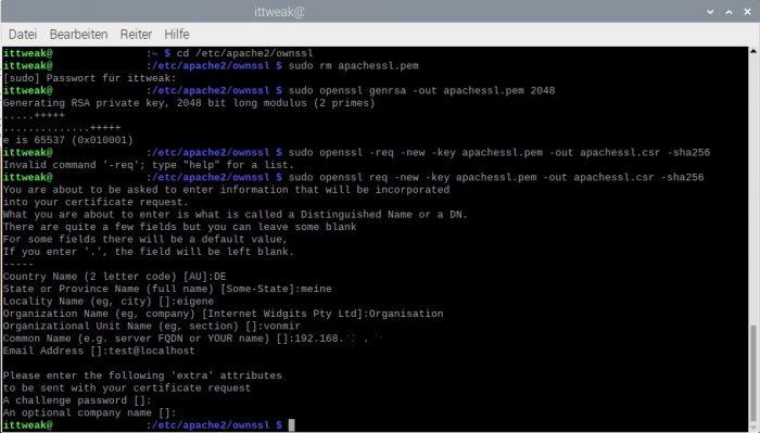 eigene ssl raspberry pi server apache wordpress installieren