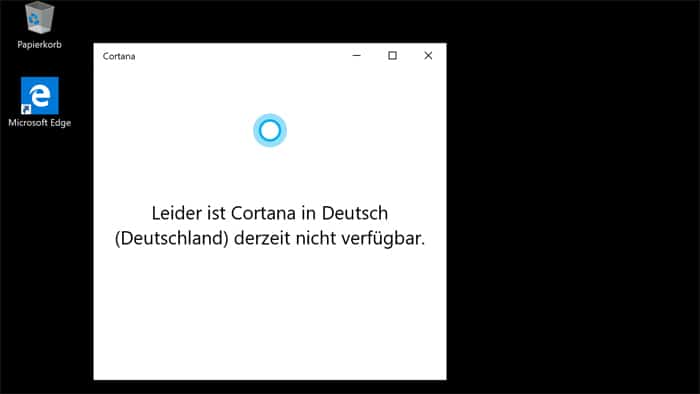 Cortana-app windows 10 Sprachassistent Microsoft