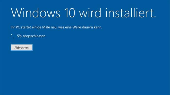 windows 10 inplace-upgrade neuste version vorab installieren release datum erscheinen