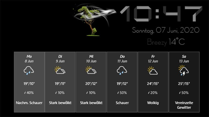 rainmeter plugin skin ittweak custom design windows 10 weather
