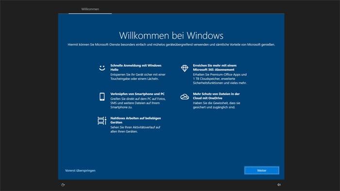 werbe-anzeige-windows 10 benutzerkonto microsoft konto abschalten