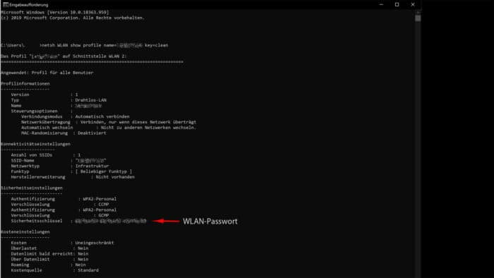 windows-10 wlan-passwort sichtbar anzeigen klartext netzwerk lesbar