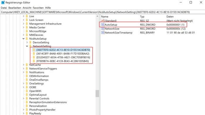 windows 10 automatische suche nach netzwerkgeräten abschalten
