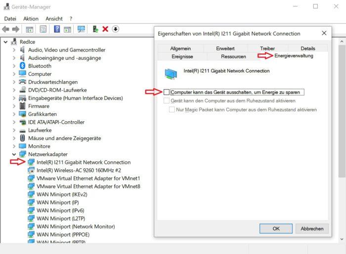 netzwerk und internet windows 10 abbruch sporadisch ausfall nicht erreichbar offline weg keine verbindung