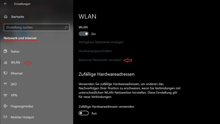 verstecktes wlan netz einrichten windows 10 netzwerk hidden ssid
