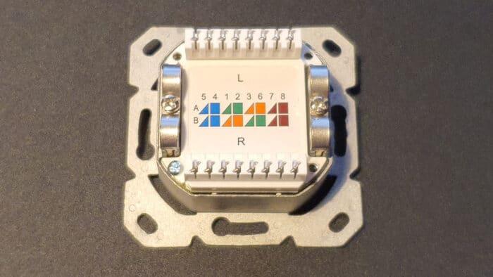 standard netzwerkdose rückseite