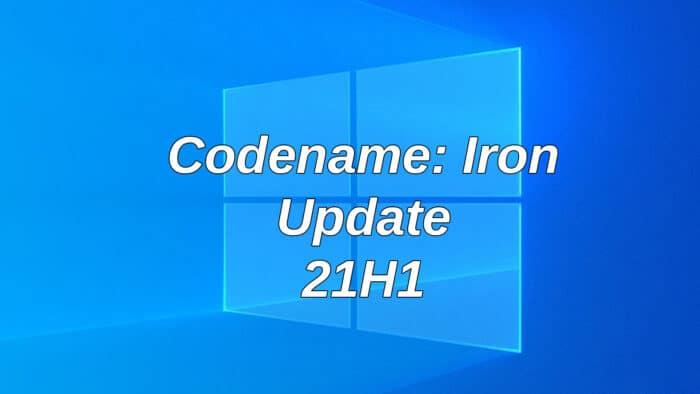 windows 10 21h1 update iron