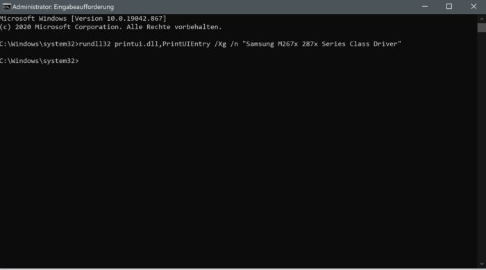 druckauftrag bug windows 10 update 2021 20h2