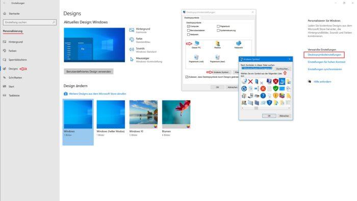 eigene symbole windows 10 icons design aussehen