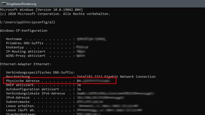 mac-adresse windows android ios anzeigen finden