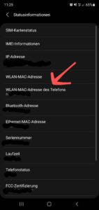 MAC-Adresse Android