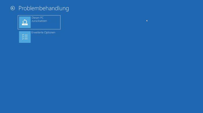 windows 10 boot fehler meldung inaccessible boot device beheben reparieren problembehandlung