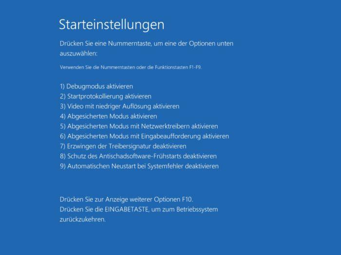 windows 10 boot fehler meldung beheben reparieren starthilfe abgesicherter modus