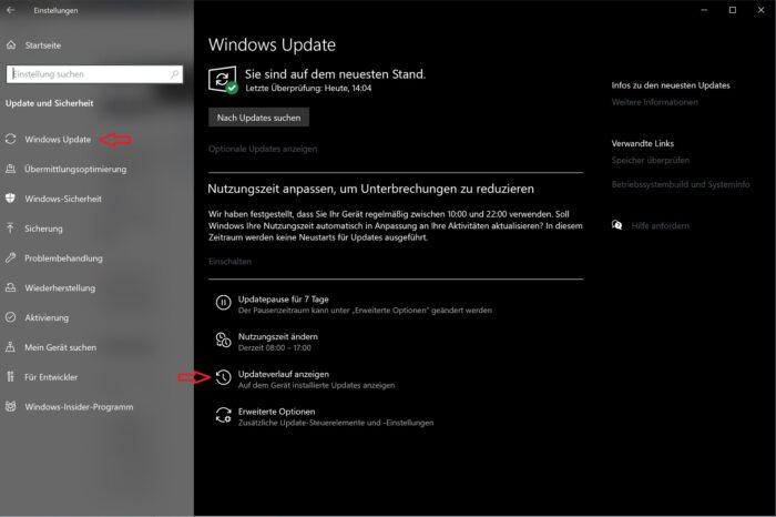 windows 10 fehlerhafte updates deinstallieren problembehandlung