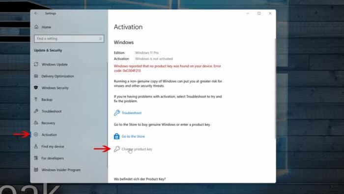 windows 11 aktivieren lizenz key windows 7 8 10