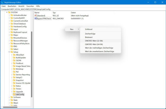 cpu sperre windows 11 umgehen trick registry installation