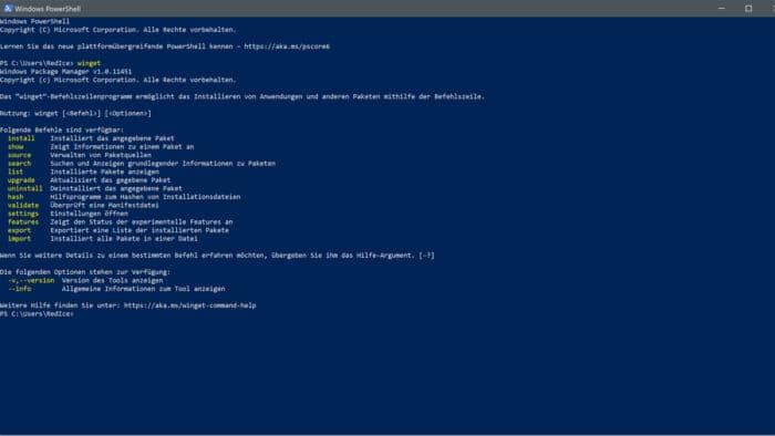 winget paket manager windows10 windows11