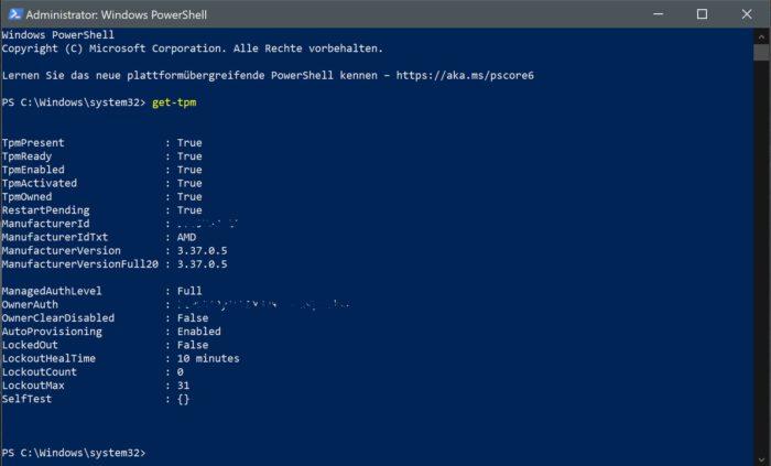 tpm version anzeigen aktiv inaktiv windows 11