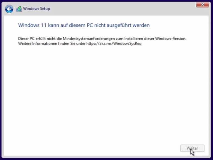 cpu sperre windows 11 umgehen trick registry installation kompatible hardware