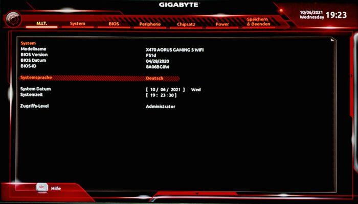 Gigabyte Mainboard UEFI BIOS